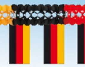 Flags chain garland Germany